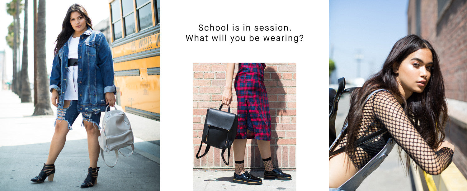 School is in session. What will you be wearing? Shop back to school.