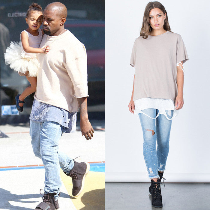 Kanye West neutral outfit