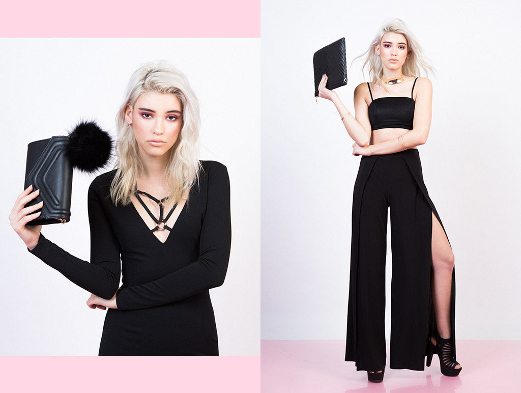Valentine's Day Outfit: Heart Breakers Black Outfit