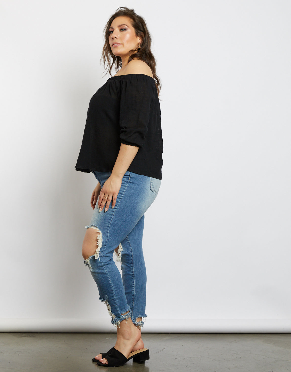 Plus Size Madeline Off The Shoulder Blouse