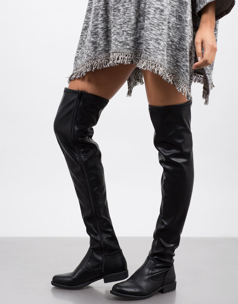 Leather Over-the-Knee Boots - 2020AVE