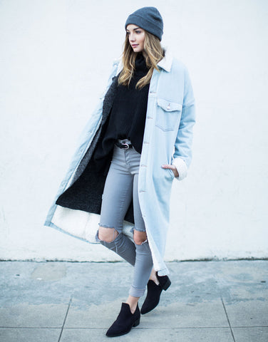 Oversized Longline Denim Jacket - 2020AVE