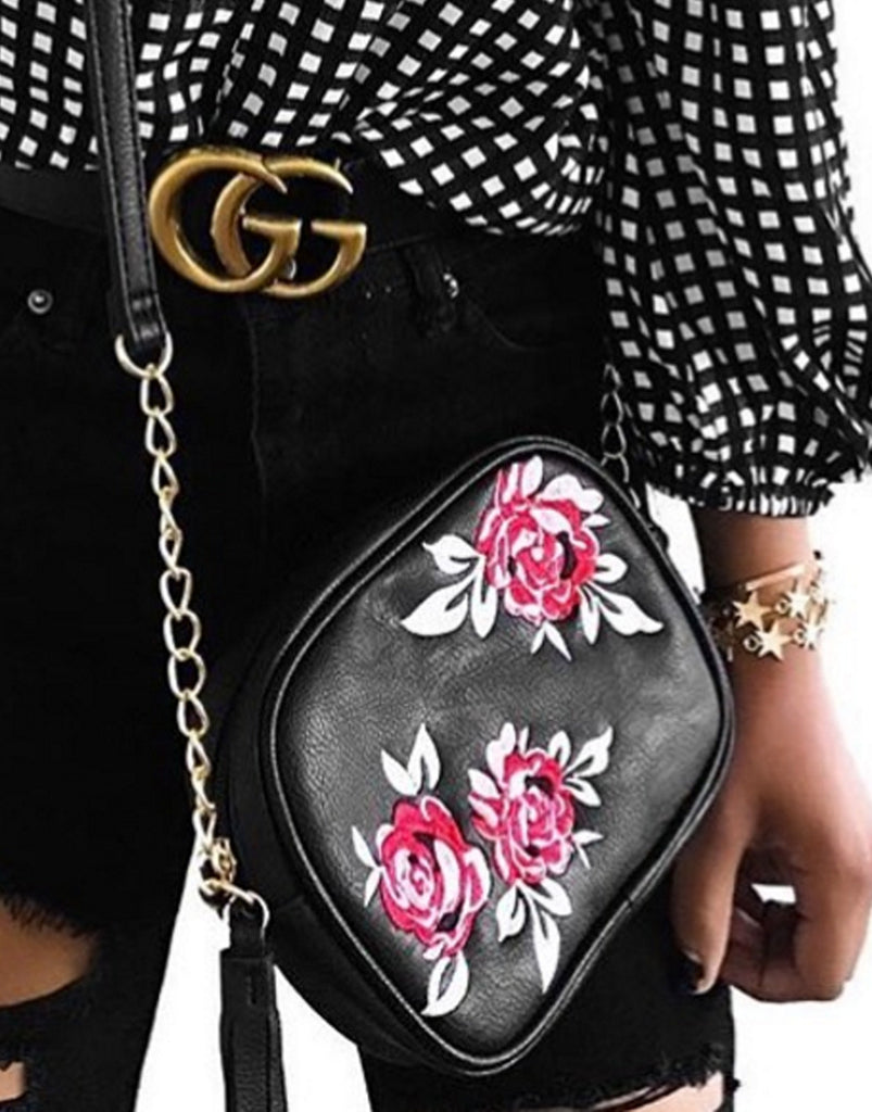 Embroidered Rose Bag - 2020AVE