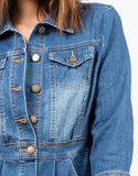 Detail of 3/4 Sleeve Denim Dress