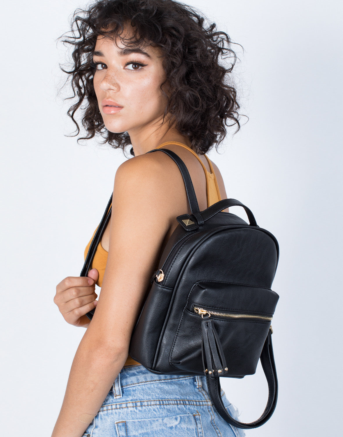 Black City Vibes Mini Backpack