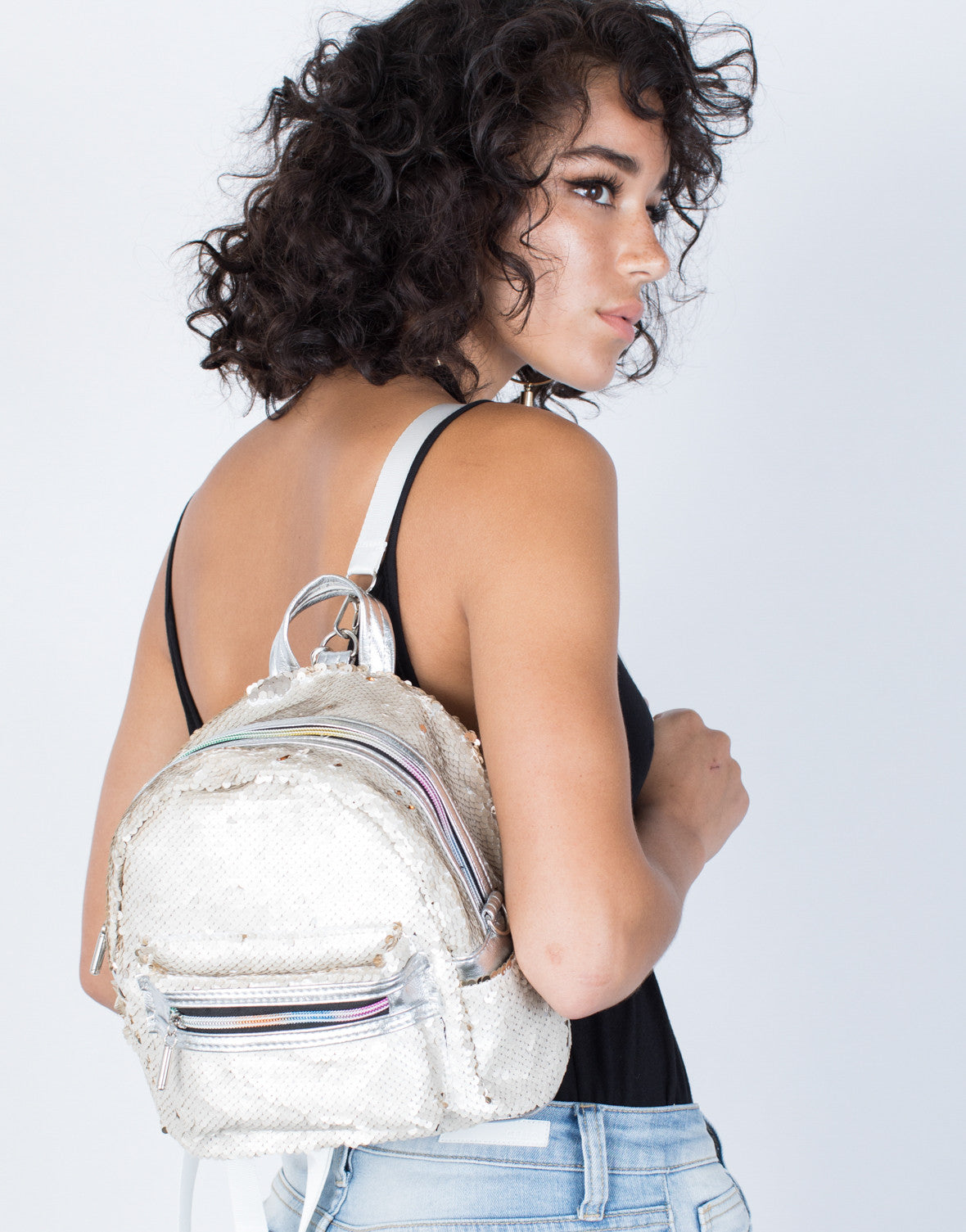 Silver/Gold Sequin Thrills Backpack