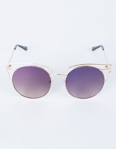 Purple Tessa Cut-Out Sunnies - Top View
