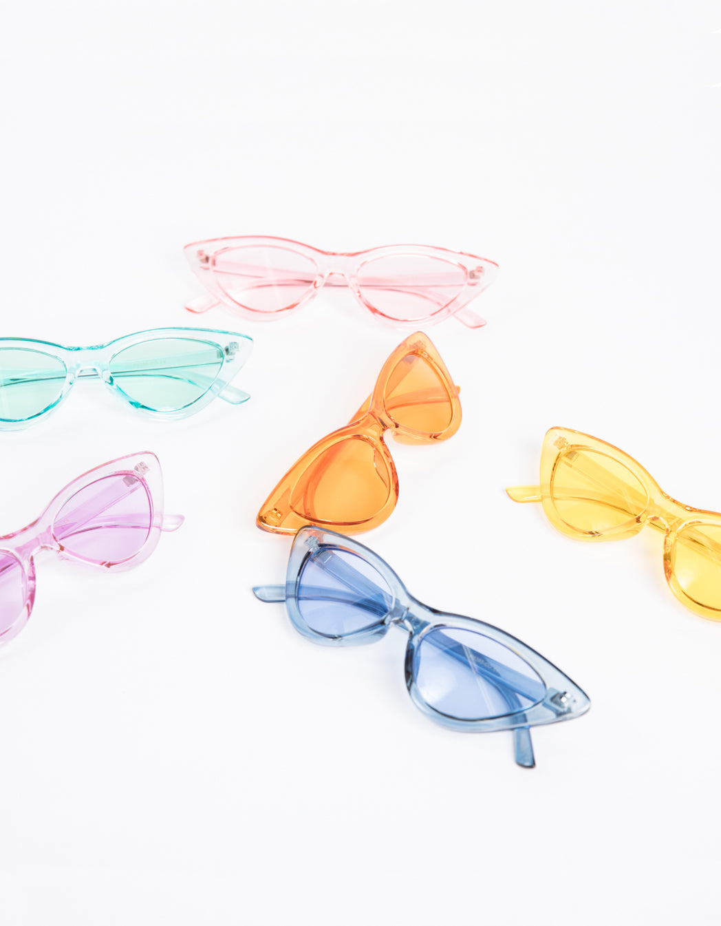 Clear Colored Cat Eye Sunglasses