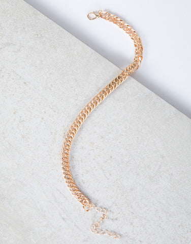 Gold Minimal Chained Anklet
