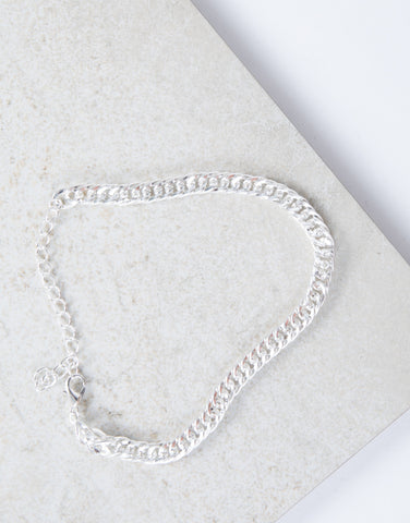 Silver Minimal Chained Anklet
