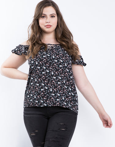 Plus Size Sunday Floral Top