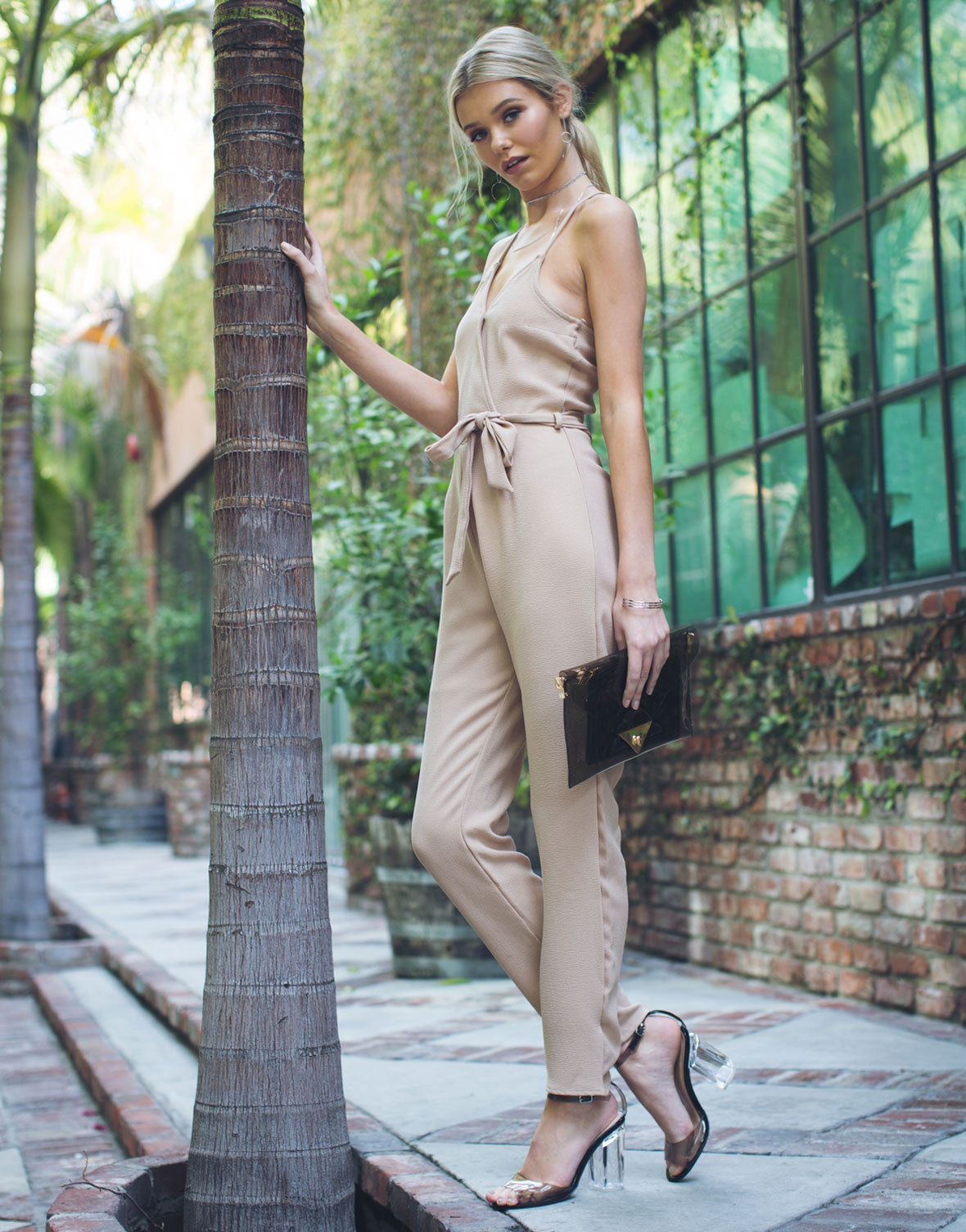 0beede6baa02 Strappy Tie Up Jumpsuit - Bow Tie Jumpsuit - Cami Tank Jumpsuit – 2020AVE