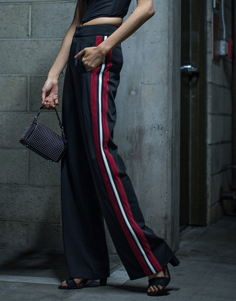 Daring Red Striped Pants - 2020AVE