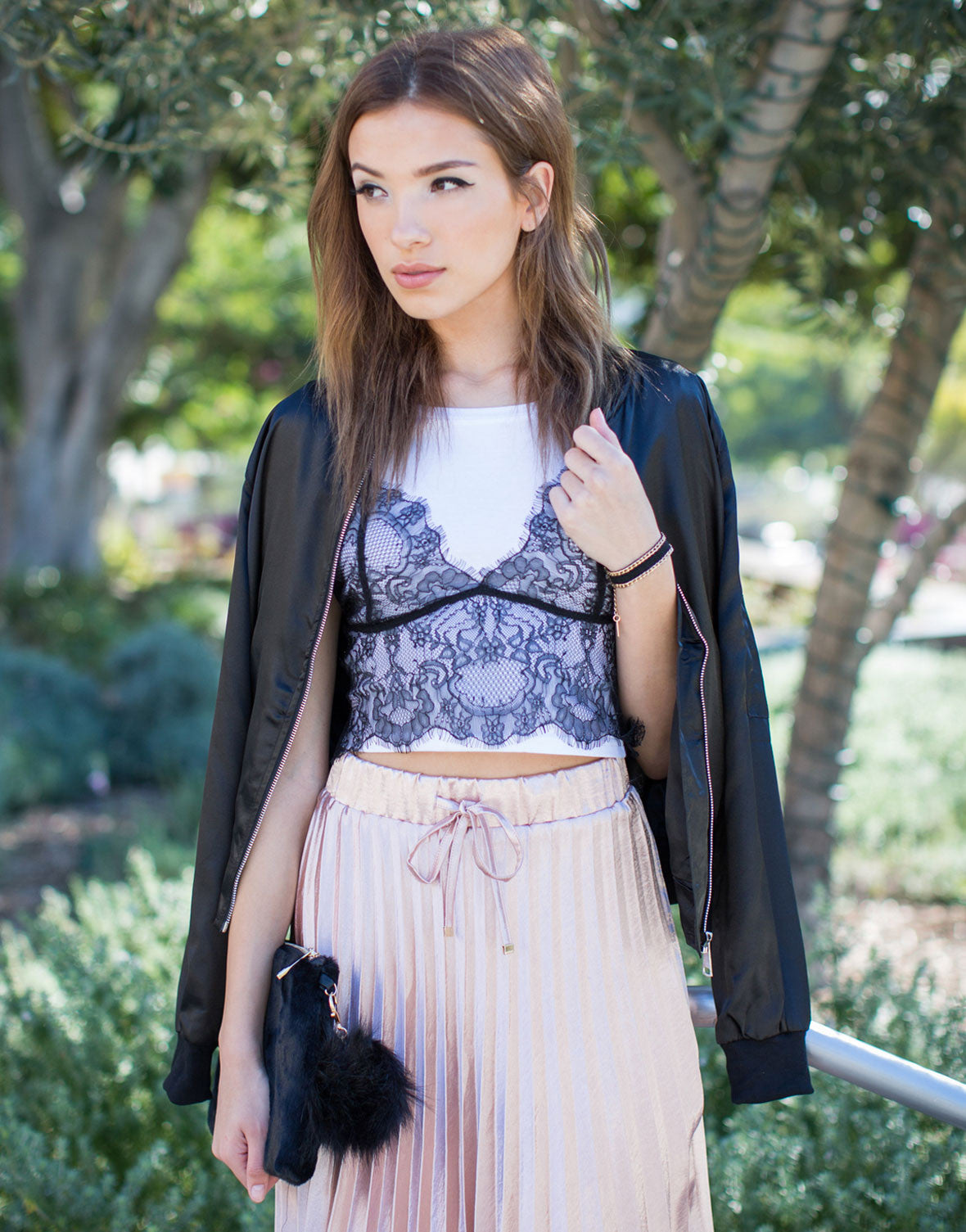 Layer of Lace Cropped Tee