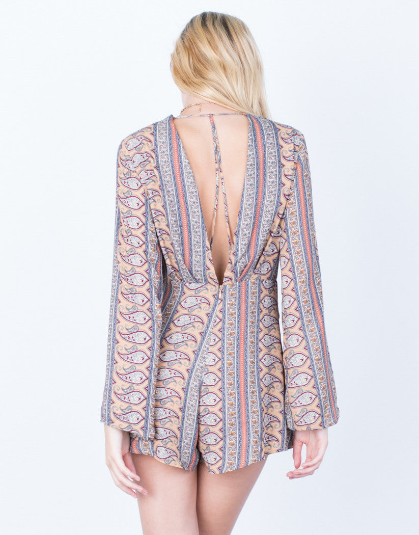 Back View of 70's Paisley Romper