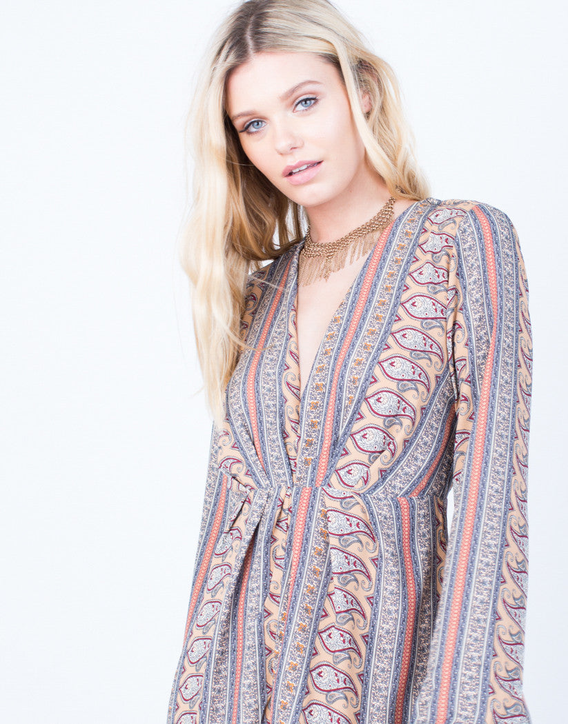 Detail of 70's Paisley Romper