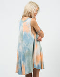 Back View of 70s Tie-Dye Dress