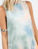 Detail of 70s Tie-Dye Dress