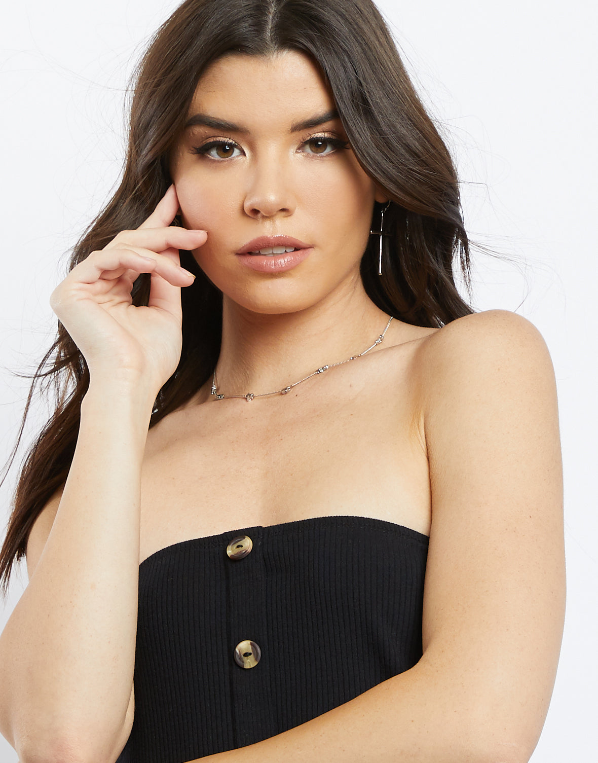 Paige Button Up Tube Top