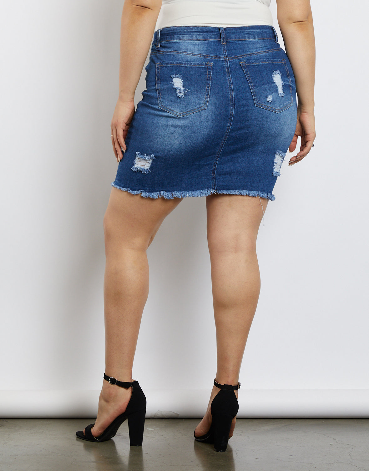 Plus Size Kate Denim Skirt