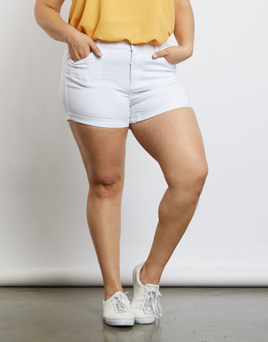 Plus Size Jane Mid Rise Shorts