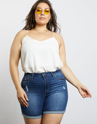 Plus Size Alex Midi Shorts
