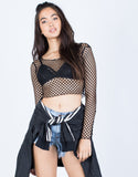 90's Fishnet Crop Top