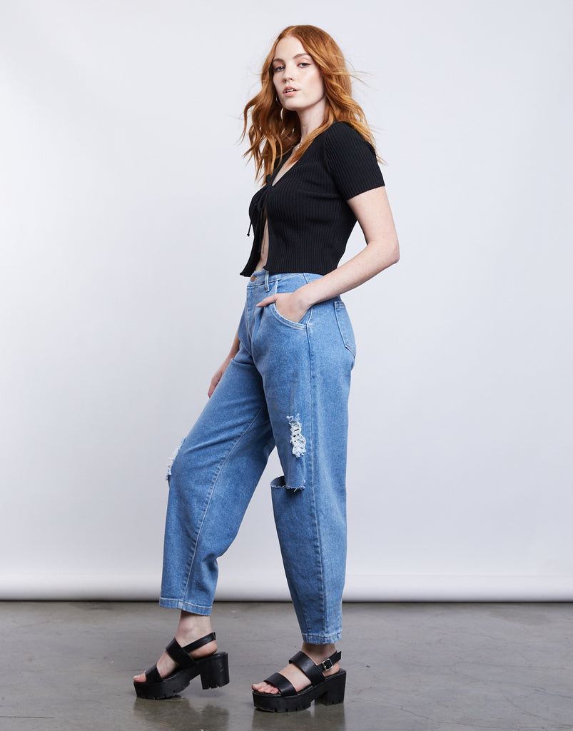 Adore You Mom Jeans Bottoms -2020AVE