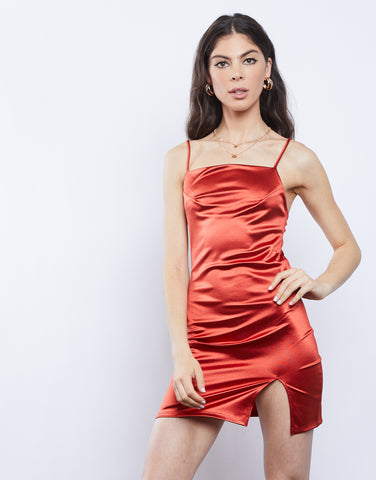 After Hours Silky Mini Dress