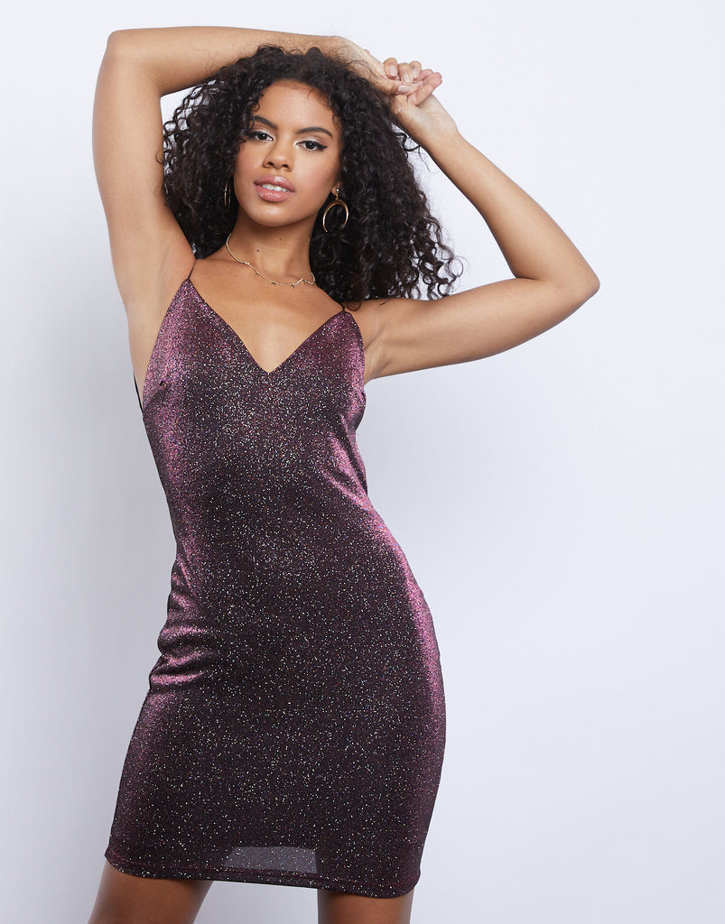 After Hours Sparkle Dress Dresses Plum Small -2020AVE