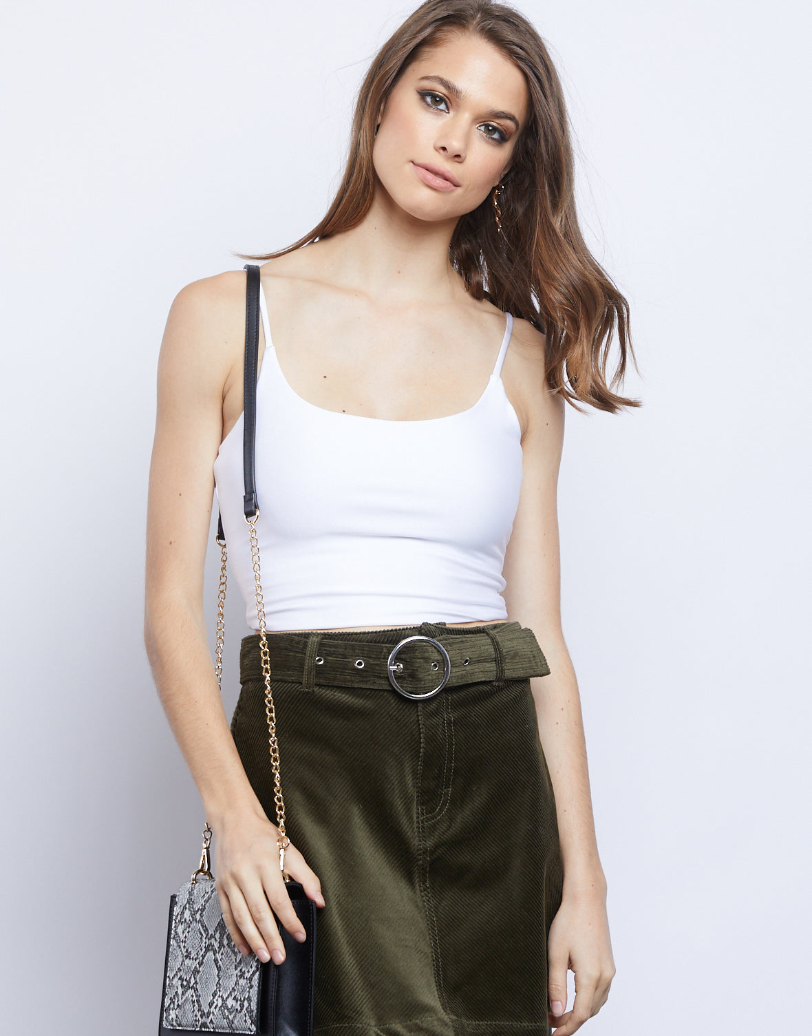 Afterglow Bodycon Cropped Camisole