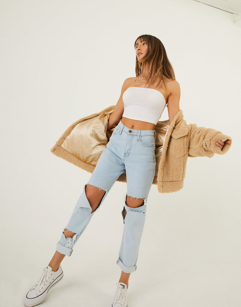Alicia Ripped Jeans Bottoms -2020AVE