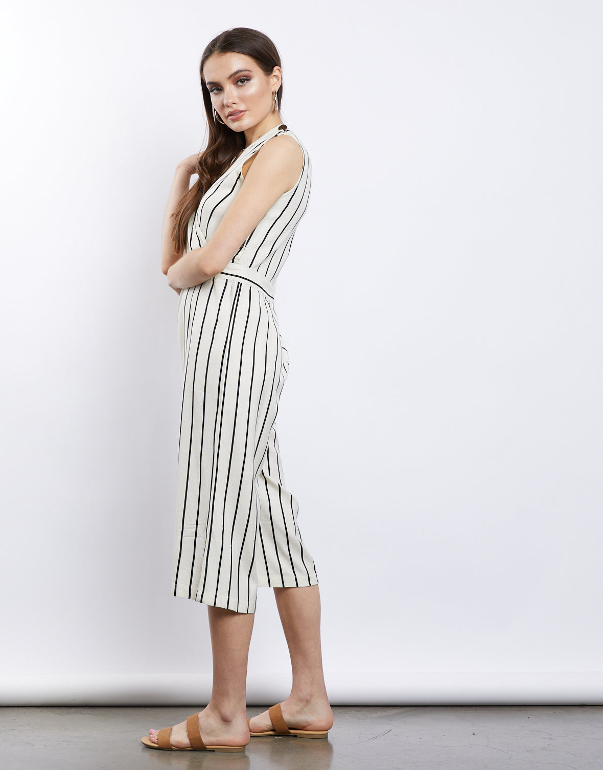 All You Need Striped Jumpsuit