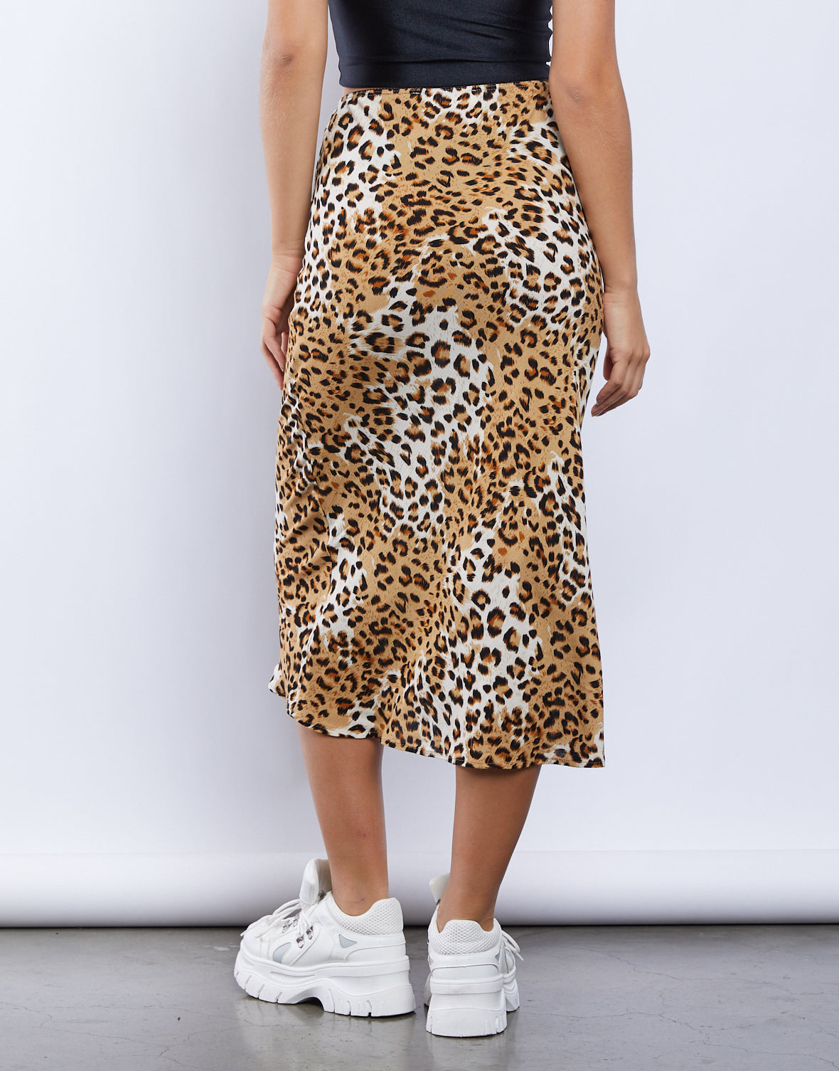 Alley Cat Spotted Midi Skirt