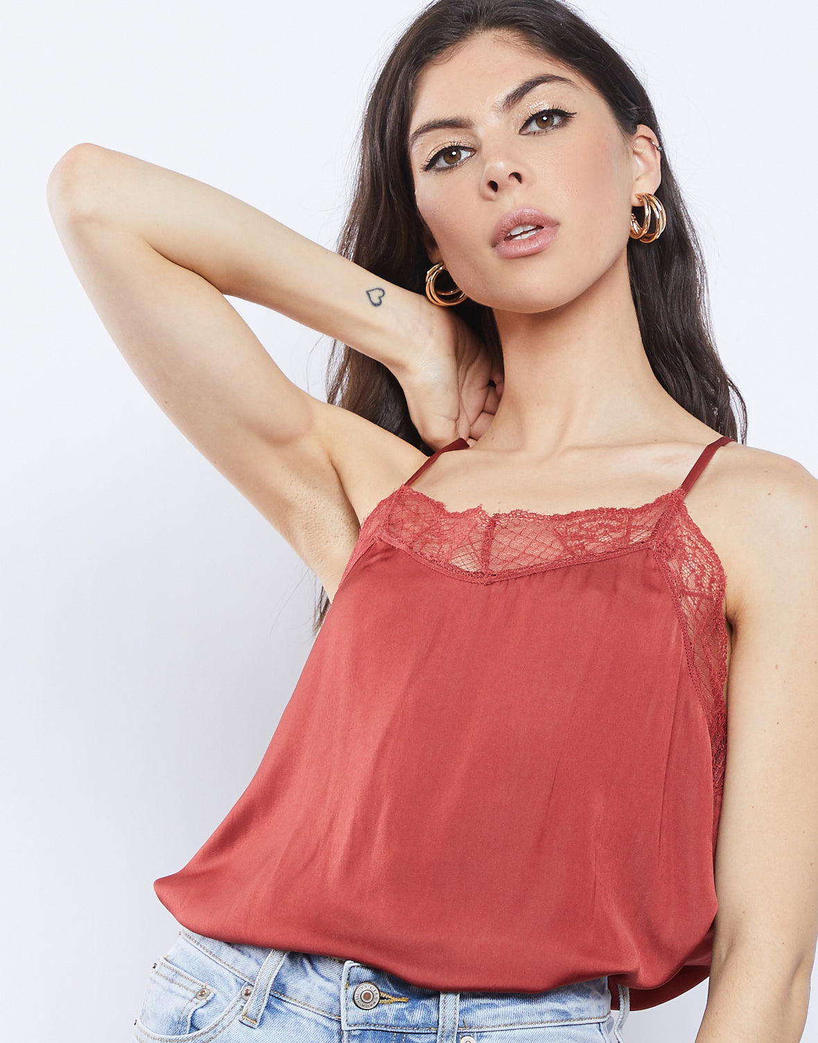 Andee Lace Trim Cami
