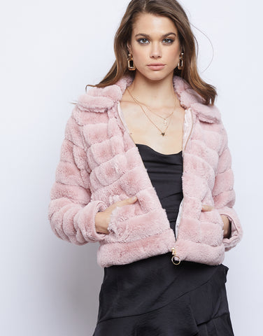 Angelica Fuzzy Puff Jacket