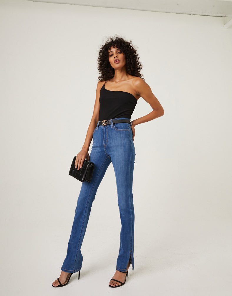 Ankle Slit Jeans Bottoms -2020AVE