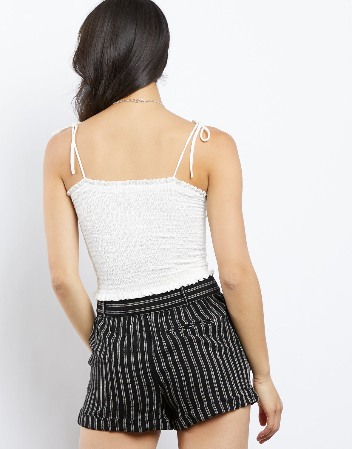 Ariel Tie Shoulders Cropped Tank