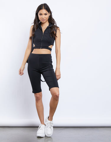 Arya Matching Biker Shorts And Sports Bra Set