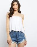 Audrey Open Back Strapless Top