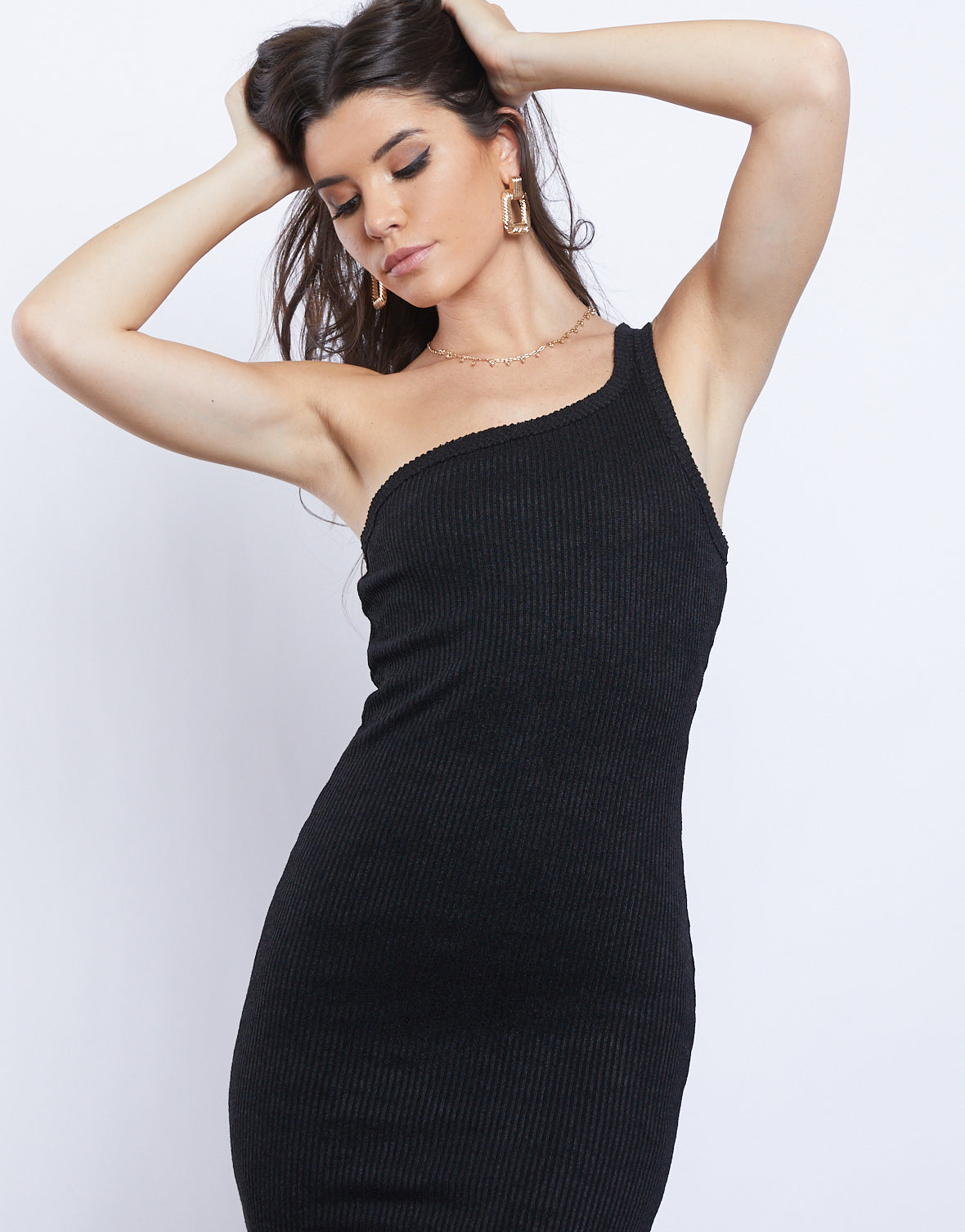 Avery One Shoulder Knit Dress