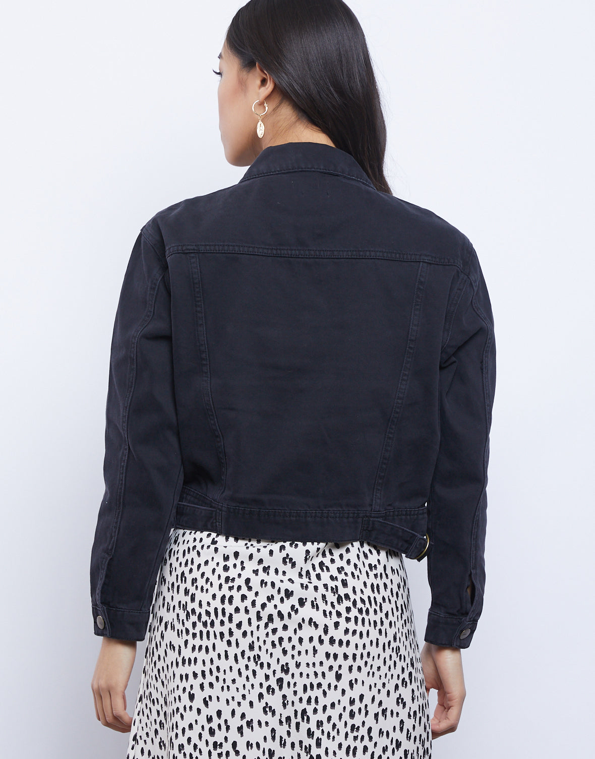 Back To Black Denim Jacket