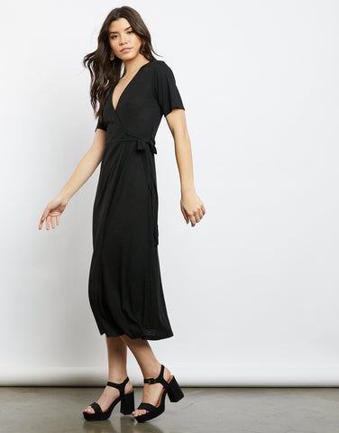 Back To Black Wrap Dress