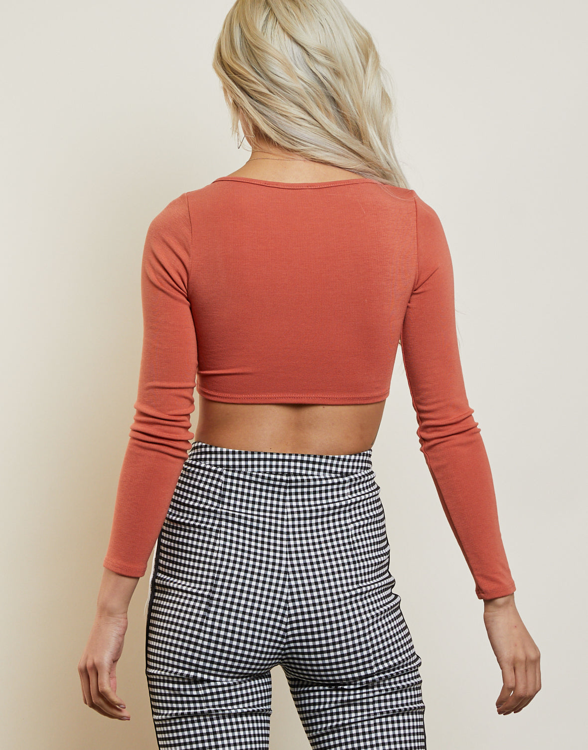 Back To Square 1 Crop Top