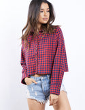 Bad Habits Checkered Top