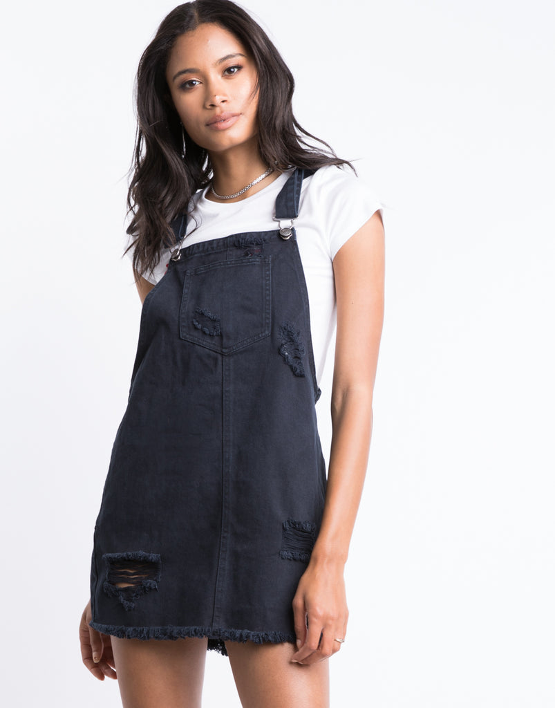 Bailey Denim Overall Dress Dresses Black Small -2020AVE