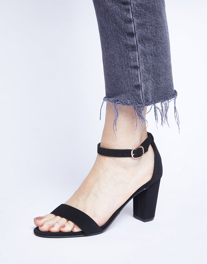 Basic Black Heels Shoes -2020AVE
