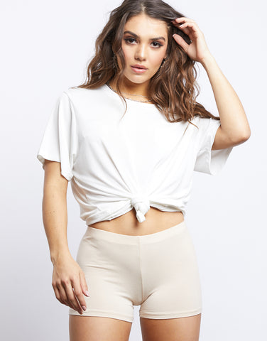 Basic Nude Yoga Shorts