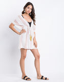 Beach Days Drawstring Mini Dress