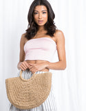 Beach Ready Straw Tote